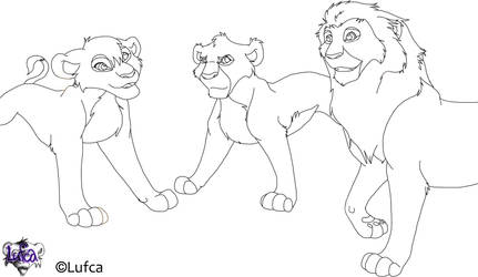 Group Lineart by Lufca