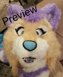 Andromeda Cat Fursuit Head Preview by Lufca