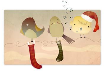 Christmas cubebird by estygia