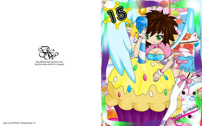 Eruke_Happy Birthday'Full card by DHackTrix