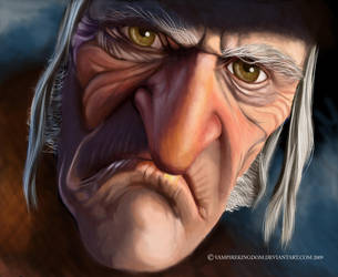 Ebenezer Scrooge by vampirekingdom