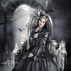 The Black Rose by vampirekingdom