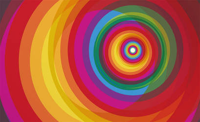 Spiral Rainbow Vector Background by vectorbackgrounds