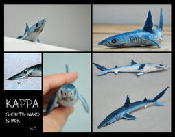 Kappa the Shortfin Mako Shark - Soft Toy by Skia