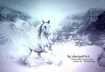 White horse By Daniyal061 by Danial061