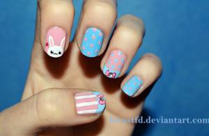 Kawaii Easter nails by KiraSTFD