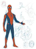 Spider-Man Redesign Doodle by zclark