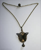 Collier Lepidoptera by PoussiereObsidienne