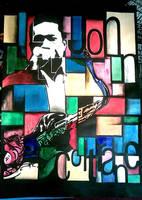 john coltrane poster by CHIN2OFF