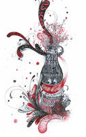 coca cola sketch by CHIN2OFF