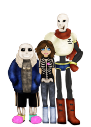 Shen Sans and Papyrus bgless again by TurtleChix