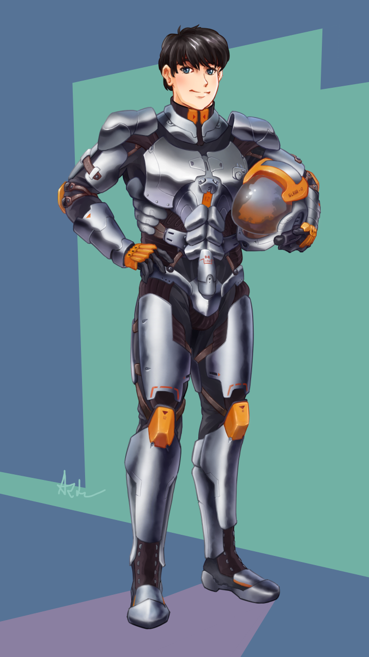 Mecha pilot armor by amade