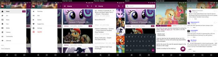Equestria Daily App Mockup by dadiocoleman