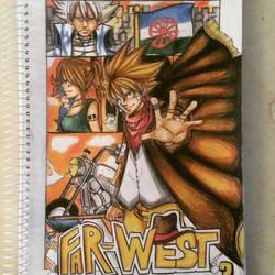 My Oc Manga Cover Far-West Volume 3 by BrownBeard
