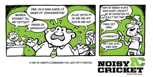 Noisy Cricket commercial comic strip by SuperLennox
