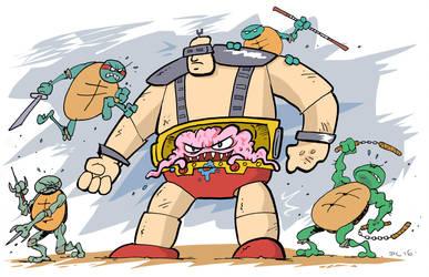 Fighting Krang by SuperLennox