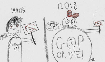 FBI protesters, then and now. by XKXKXKXKXKXKXKXKXK