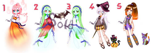 Adoptables halloween OPEN (point or paypal) by Nymaruchan