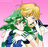 Sailor Uranus And Sailor Neptune by efeitostark
