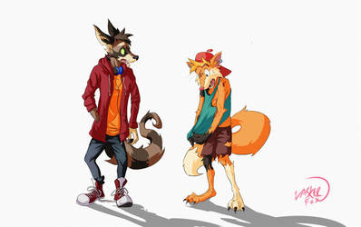Lasker and Pipes Swap by LaskertheFox