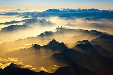 alpine sundown by ffmdotcom