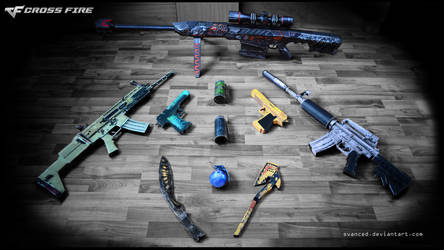 ALL of my CrossFire papercraft weapons 01.Mar.2016 by svanced