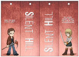Silent Hill Bookmarks 01 by Dezfezable