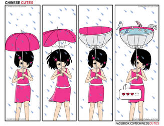 chinese cutes -- '' umbrella up '' by chinese-cutes