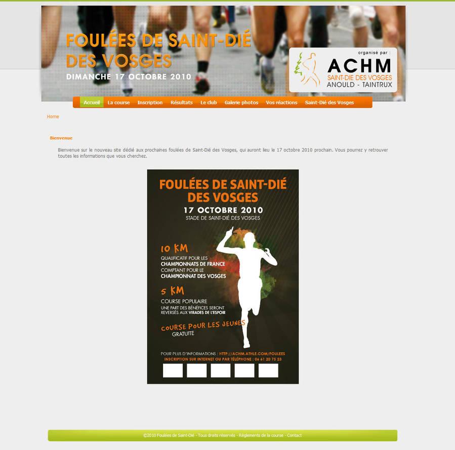 Foulees St-Die - Site web by Bloomy021