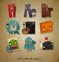 Artcore Icons Nr. 3 by artcoreillustrations
