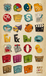 Artcore Icons Nr. 4 by artcoreillustrations