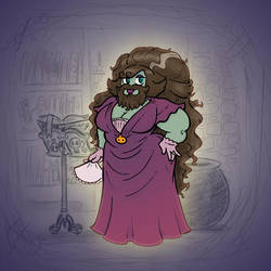 Angela's Magic Lesson - Bearded Lady by Mr-DNA