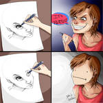 Drawing two eyes never had been so hard. by SamEvilconCarne