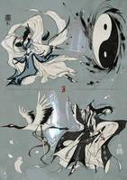 [JX3]Shadow and crane by Wavesheep