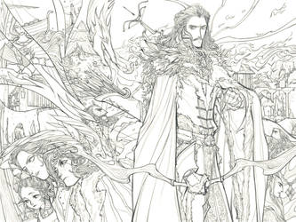 [Hobbit]King of Dale(line) by Wavesheep