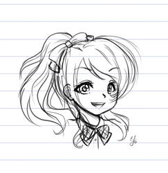Eli Ayase sketch by Lennal