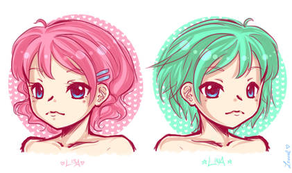 Lisa and Lina by Lennal