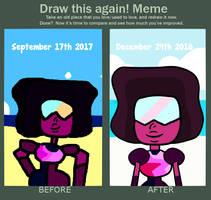 Draw this again meme- Garnet by SarahSapphire16