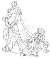 Alice as a Unholy Death Knight by wafflemuncher