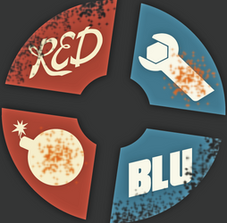 TF2 Red and Blu Logo by iamjcat