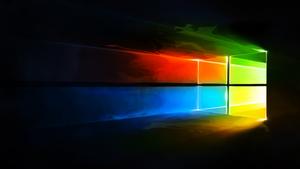 Windows 10 Liquify Colour Logo Wallpaper by iamjcat
