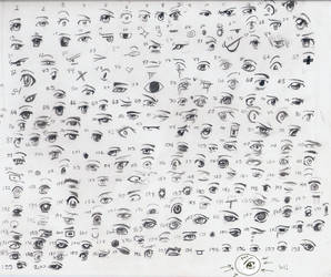 200 anime manga eyes by Queen-Elle