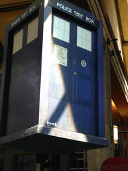 Floating Tardis Up Close by rainrivermusic