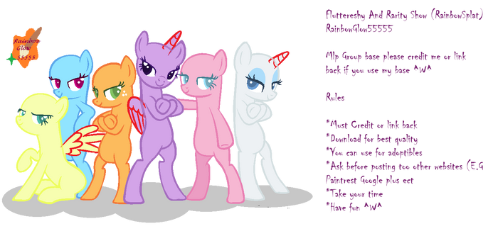 We Are Very Swag Girls ~ Mlp group base by 101xSplattyx101