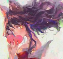 Ahri FanArt by OrekiGenya