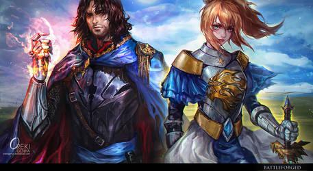 Commission- mobile game arts by OrekiGenya