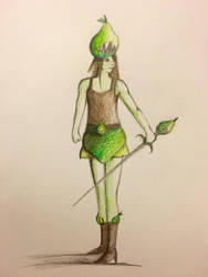 Pear Girl the Warrior (IDK what to name it lol) by EmpressOfCombustion