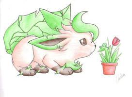 PKMN: Eeveelutions - Leafeon by Carro-chan