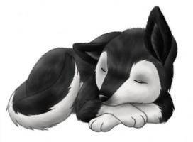 Sleeping Wolf by Carro-chan