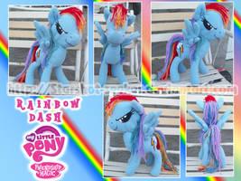 MLP:FiM - Rainbow Dash plushie by Starshot-seeker